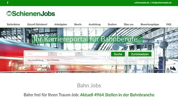 Website: Karriereportal für Bahnberufe