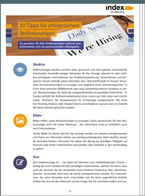 White Paper: 10 Tipps für erfolgreiche Stellenanzeigen