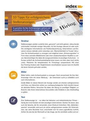 index White Paper 10 Tipps für bessere Stellenanzeigen