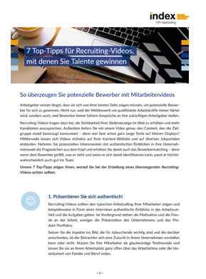 index White Paper Tipps für einen Recruitingfilm