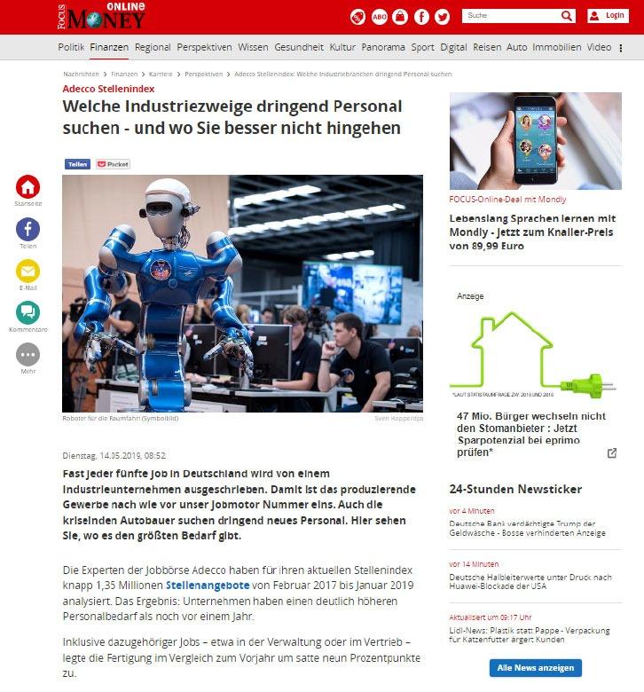 Artikel in Focus Online