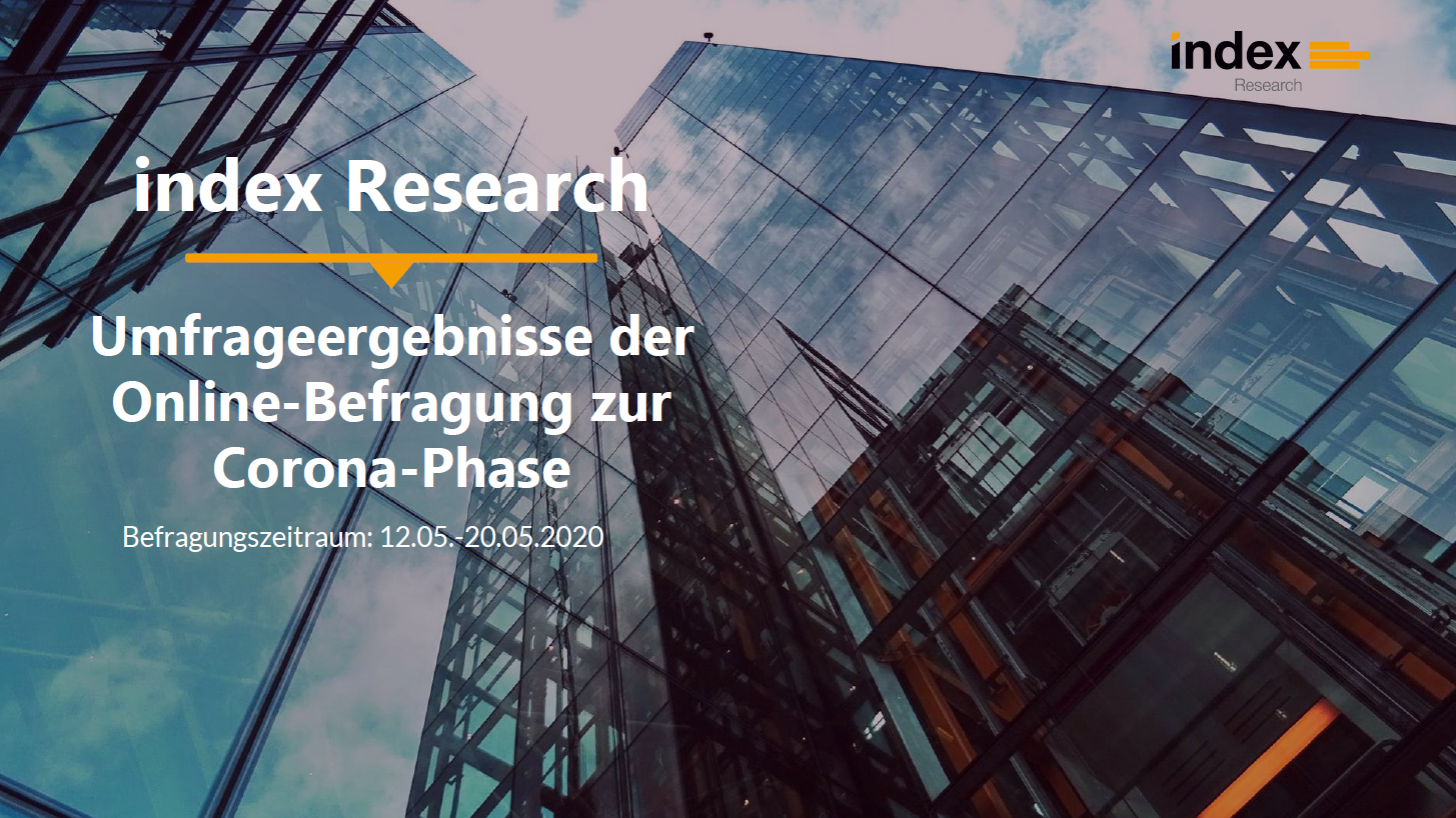 "Umfrage ""Recruiting in der Corona-Phase"" von index Research"