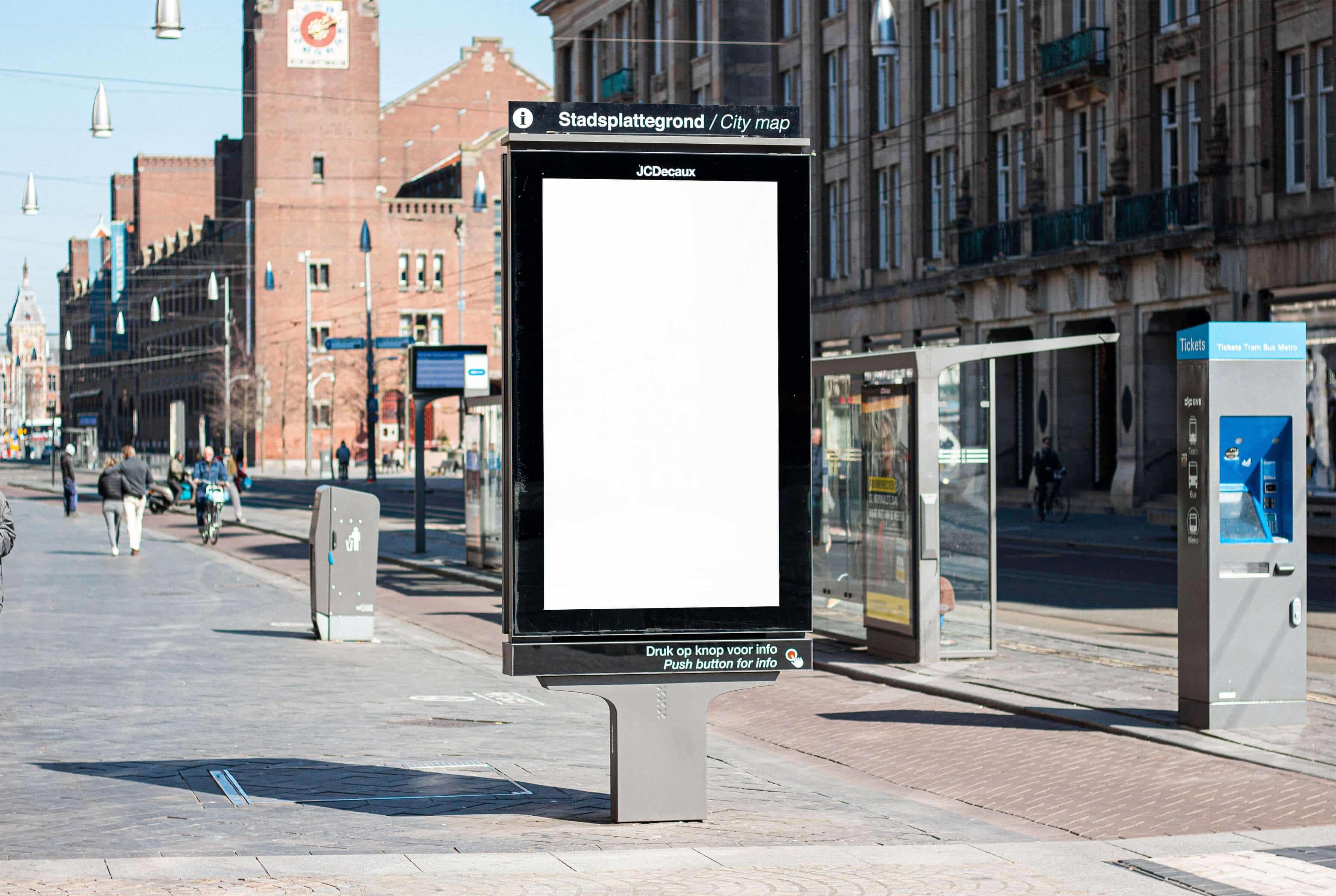 Anzeigentafel für Digital Out-of-Home-Werbung